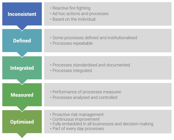 Fig 1 - Risk Management Maturity