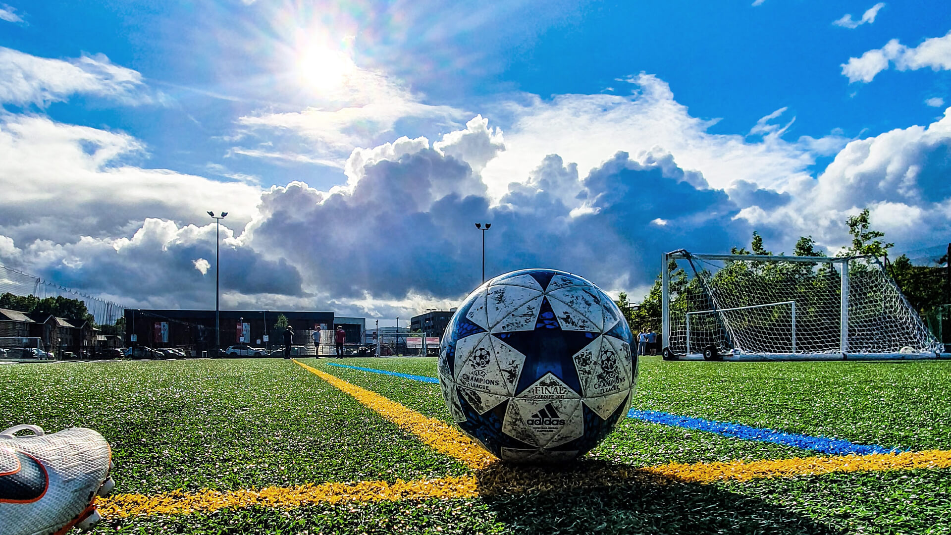 Football on a field to illustrate operational resilience