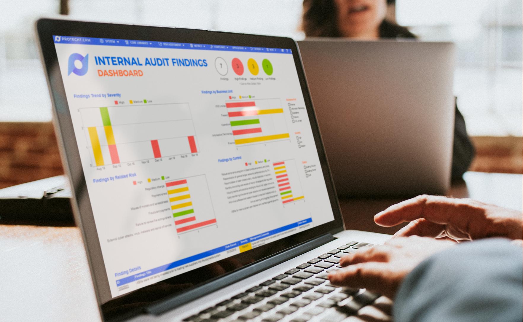 Protecht-internal-audit-findings-dashboard