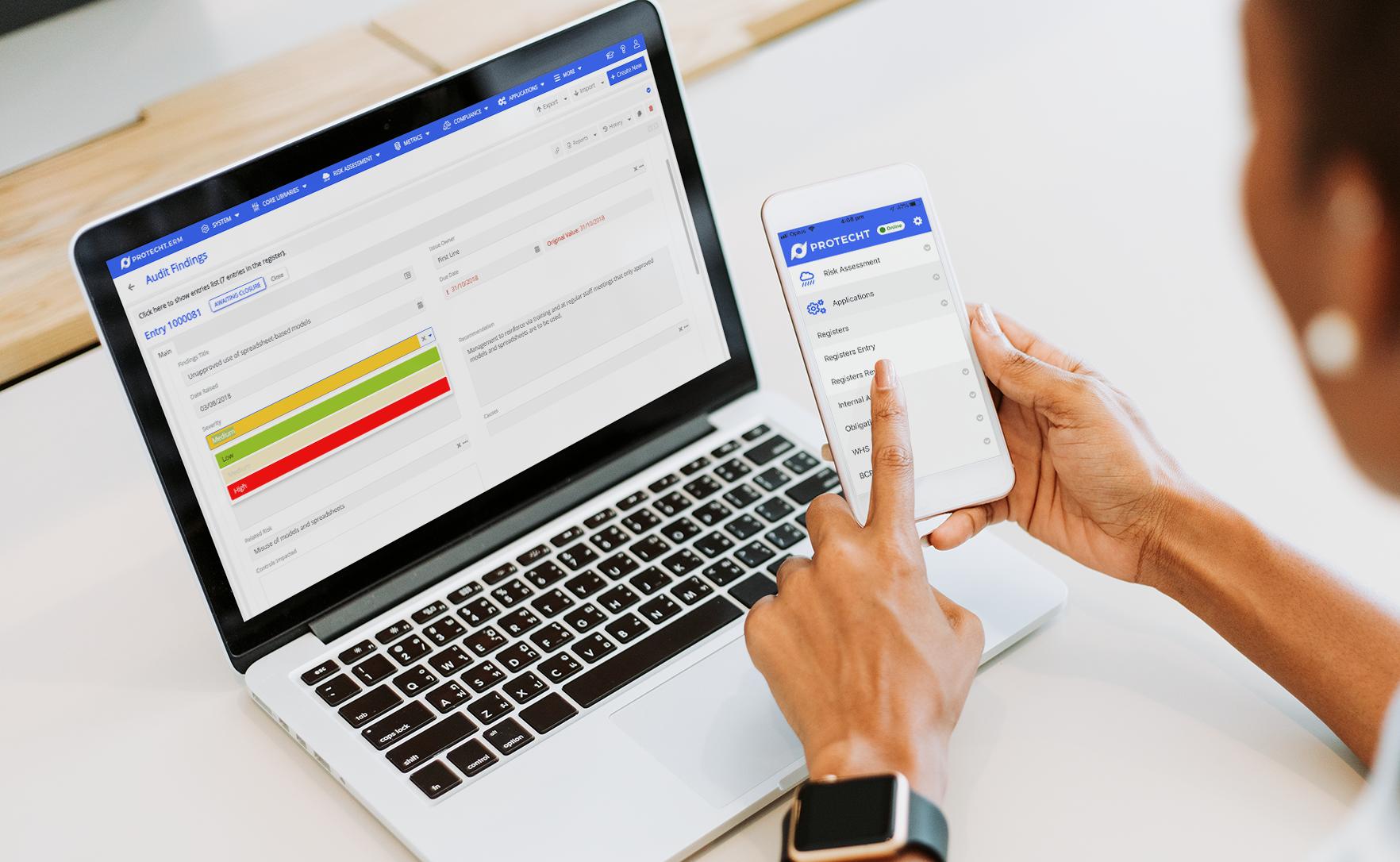 Protecht-internal-audit-laptop-mobile