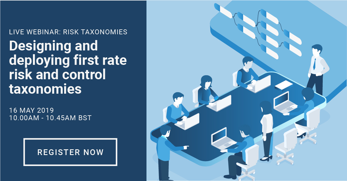 Designing and deploying first rate risk and control taxonomies webinar featured image