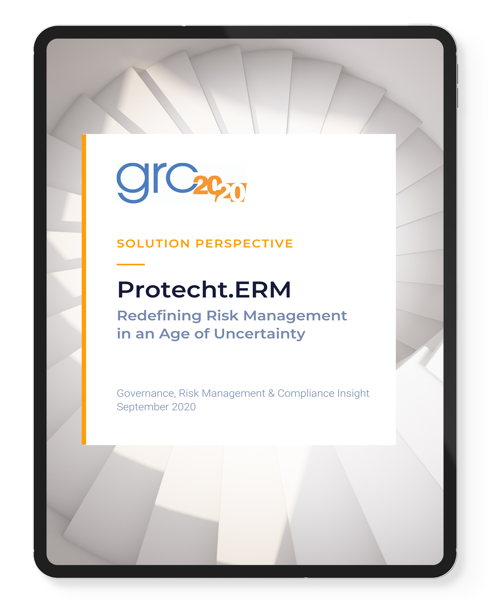 GRC 20/20 Solution Perspective for Protecht.ERM ebook cover
